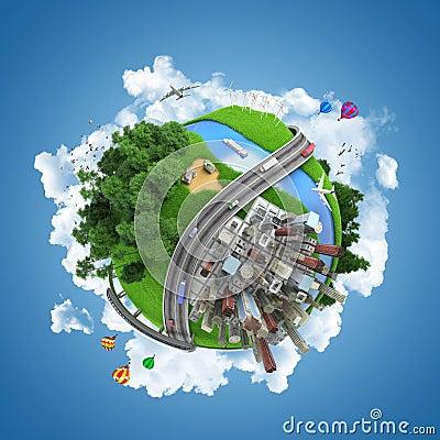 Free World Globe Concept Stock Images - 25357174