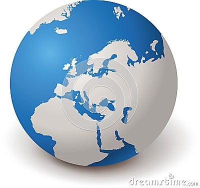 WORLD GLOBE EUROPE 3d