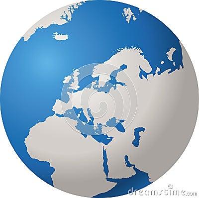 Free WORLD GLOBE EUROPE Royalty Free Stock Photography - 7426407
