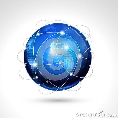 World globe, network icon.