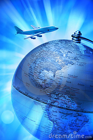 Free World Globe Travel Airplane Royalty Free Stock Photo - 12030605
