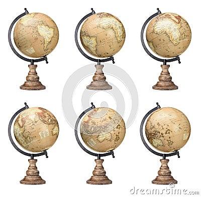Free World Globes Royalty Free Stock Image - 79938976