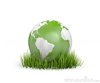 World in grass