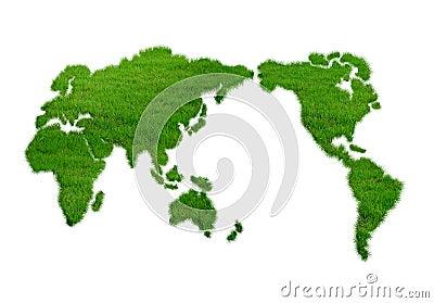 World, grass, green