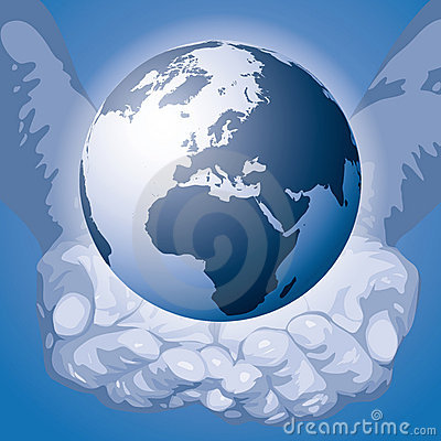 The world in the hands (vector)