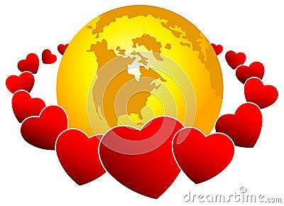World and hearts