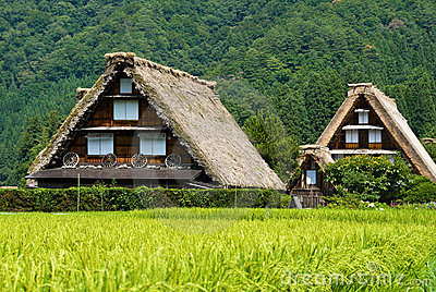 The world heritage Shirakawa-go.