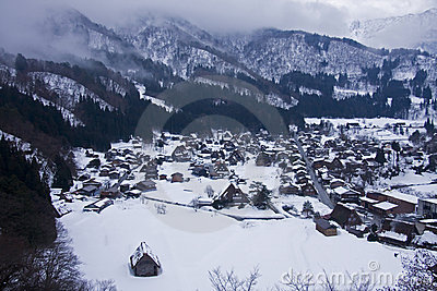 World heritage shirakawago gasshozukuri houses