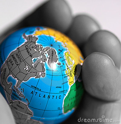 Free World In A Hand Stock Photos - 216153