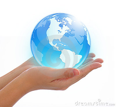 Free World In Hand Stock Photo - 5580380