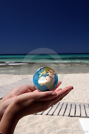 Free World In Her Hands Royalty Free Stock Image - 6918256