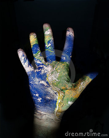 Free World In Our Hand Stock Photography - 3984302