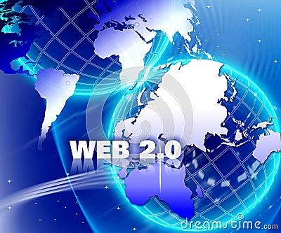 World internet Network Web 2.0