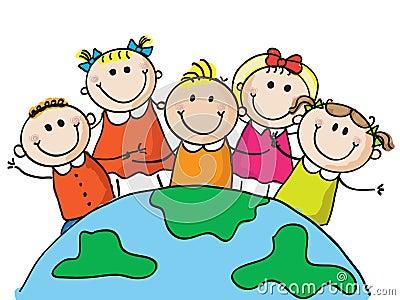 World kids Vector Illustration