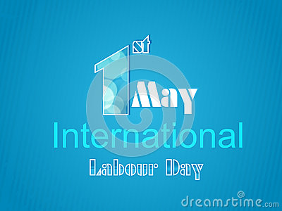 World Labour Day concept with stylish text on shin