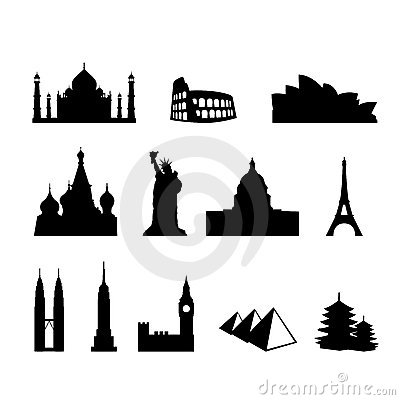 World Landmarks And Monuments Royalty Free Stock ...