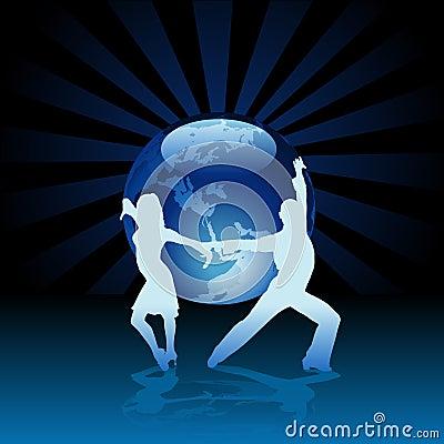 Free World Latino Dance Stock Image - 8887481