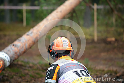 World logging championship 2012 Editorial Photo