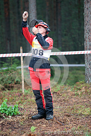 World logging championship 2012 Editorial Stock Image