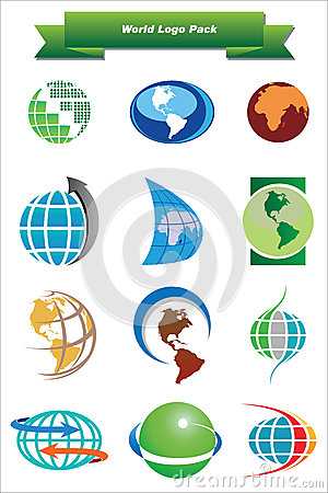 Free World Logo Pack Royalty Free Stock Image - 25094676