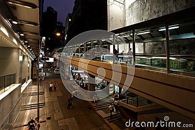 World longest escalator in Hong Kong China Editorial Photography