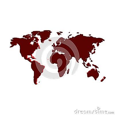 world map wallpaper computer. 3d artwork of world map