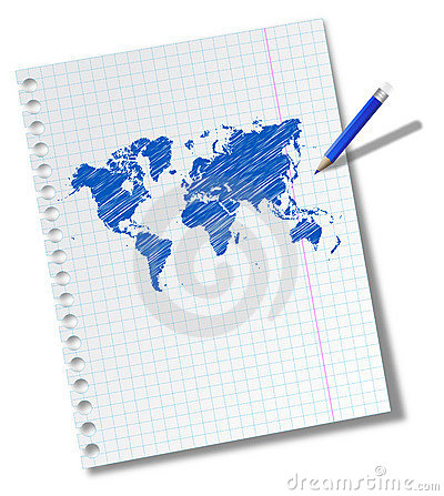 Free World Map Royalty Free Stock Photos - 17360078