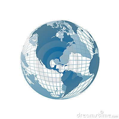 Free World Map, 3D Globe Royalty Free Stock Photography - 4173957