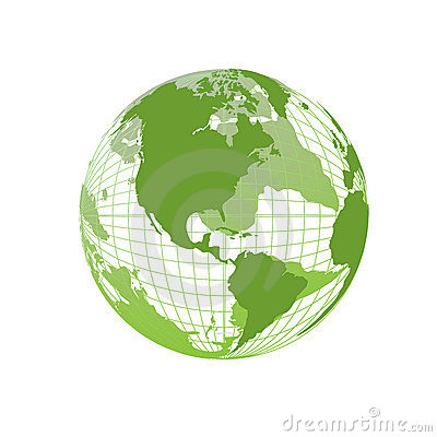 World Map, 3D Globe Stock Photo - Image: 4173960