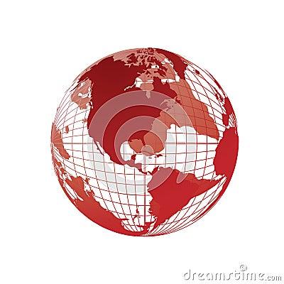 World map, 3D globe