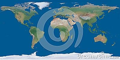 World map both hemispheres on one sheet
