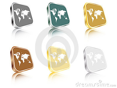 World map buttons