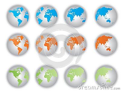 World Map buttons