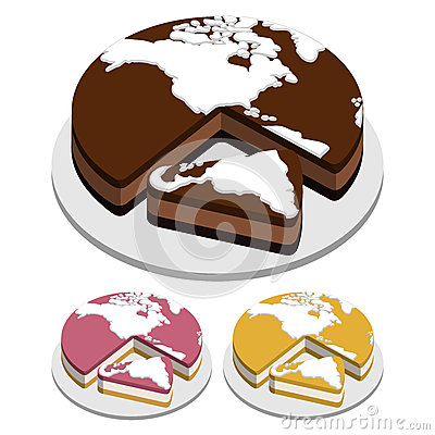 World map Cakes