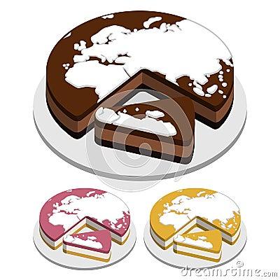World map Cakes