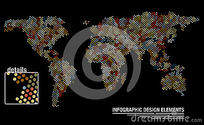 World map from circles