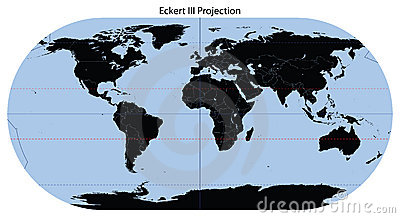World Map (Eckert III Projection)