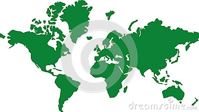 World map global earth Vector Illustration