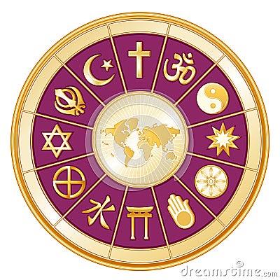 World Map, Globe of Faith, Magenta