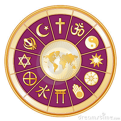 Free World Map, Globe Of Faith, Magenta Stock Photos - 6098733