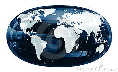 A world map - glossy f1s