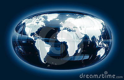 A world map - glossy glow f1s
