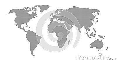 World Map Grey Pattern