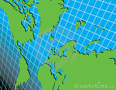 World map on grid at an angle cartoon vector cartoondealer world map on grid at an angle vector illustration gumiabroncs Gallery