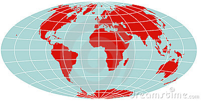 World Map - Hammer Projection
