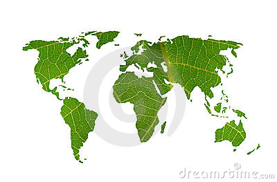 World map leaf