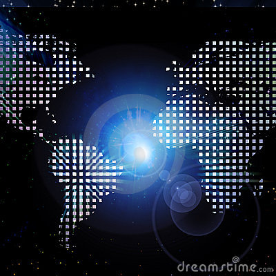 World map light