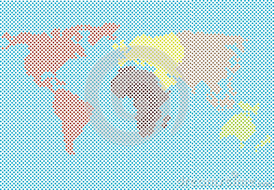 World map made of dots royalty free illustration cartoondealer world map made of dots cartoon illustration gumiabroncs Choice Image