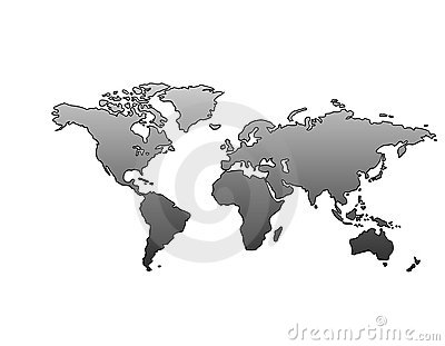 World Map (Metallic)
