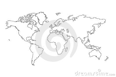 World map outline